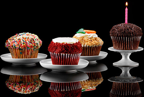 CRUMBS Signature Gourmet Cupcakes - Assorted 4-Pack