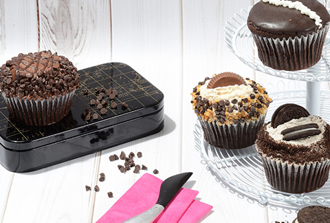CRUMBS Signature Chocolate Lovers Cupcakes - 4-Pack