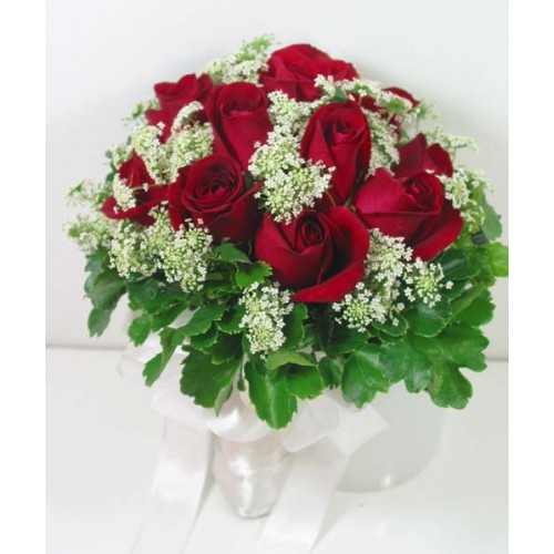 Red Holland Roses in a Bouquet