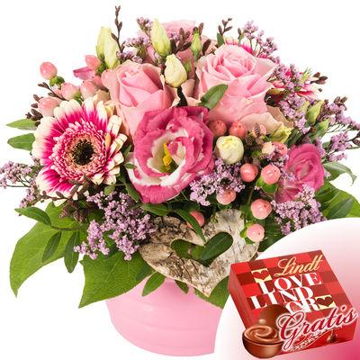 Blumenarrangement A warm welcome to Lindt Lindor