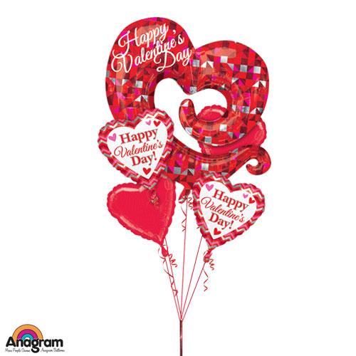 Valentine Swirly Open Heart Bouquet