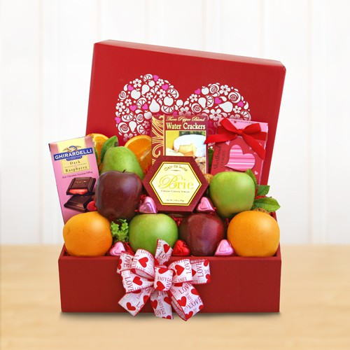 Fruitfully Yours Valentine Gift Box - Deluxe