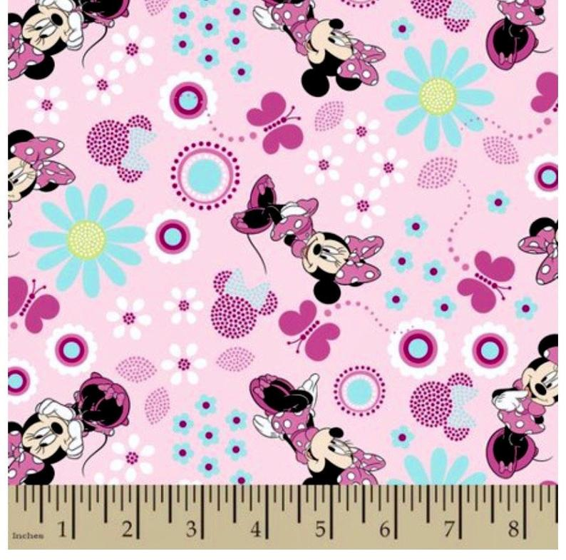Pink minnie mouse fabric