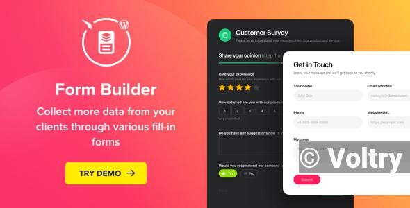 Free Form Builder - WordPress Form Builder Nulled