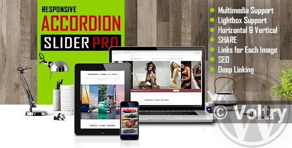 Free Accordion Slider PRO - Responsive Image And Video WordPress Plugin Nulled