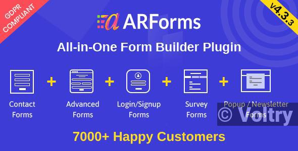Free ARForms: Wordpress Form Builder Plugin Nulled