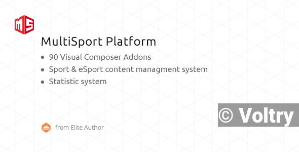 Free MSP - MultiSport & eSport WordPress plugin with 90 Visual Composer addons Nulled