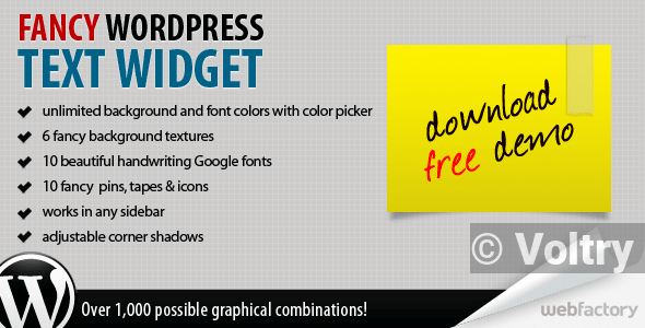 Free Fancy Text Widget Nulled