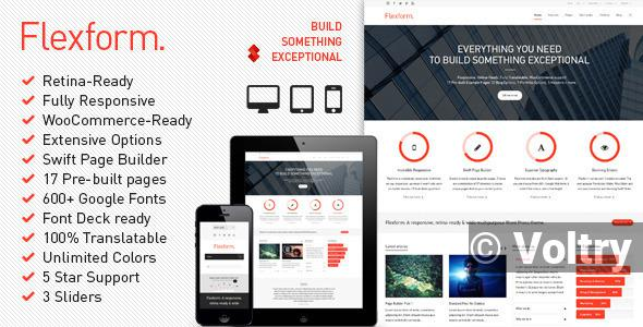 Free Flexform - Retina Responsive Multi-Purpose Theme Nulled