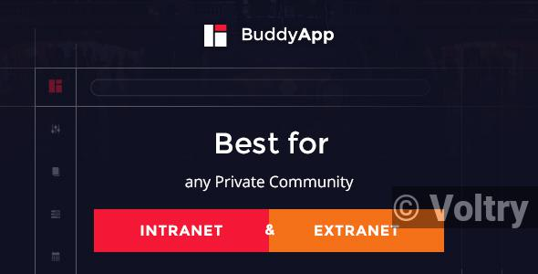 Free BuddyApp - Mobile First Community WordPress theme Nulled