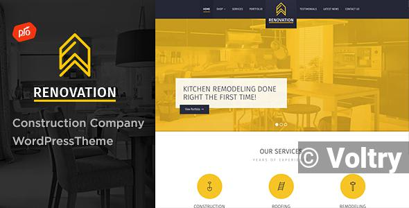 Free Renovation - Construction Company Theme Nulled