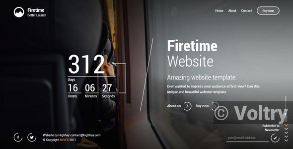 Free Firetime - A Freshly New creative template for Coming soon page Nulled