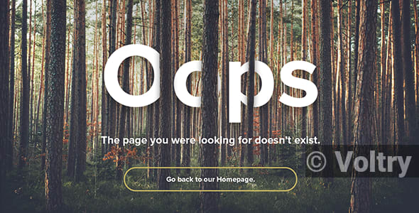 Free Natural Forest - Responsive 404 Error Template Nulled