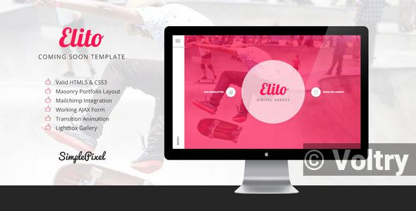 Free Elito - Coming Soon Template Nulled