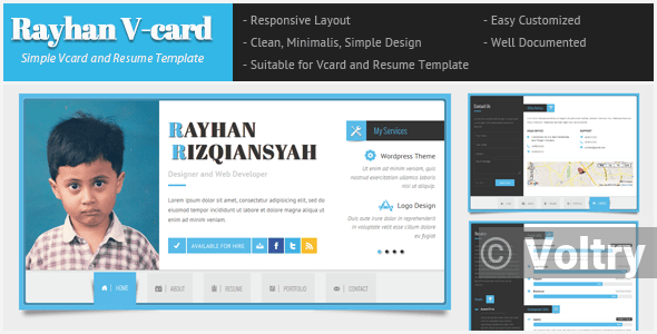 Free Rayhan - HTML Resume Template CV Vcard Nulled