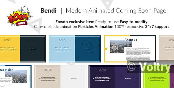 Free Bendi - Modern animated coming soon page Nulled