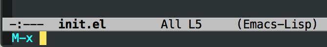 Emacs M-x