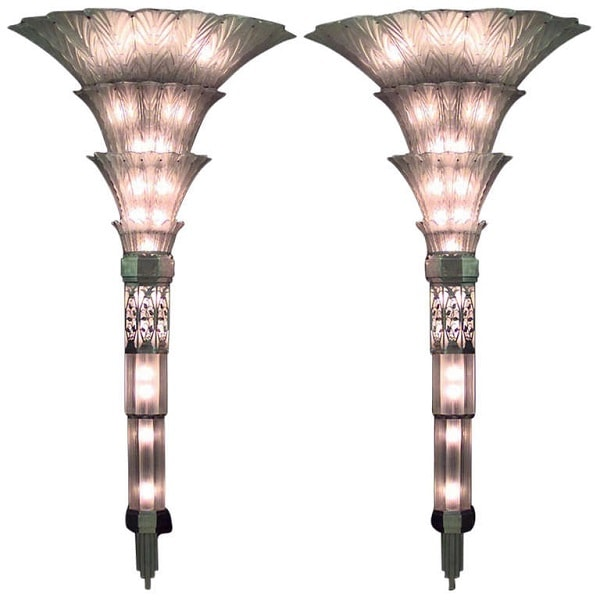 Sabino Art Deco Wall Sconces