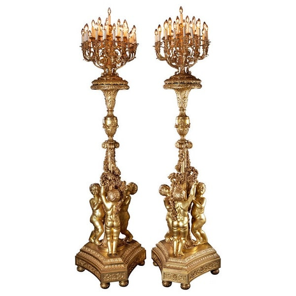 18th Century Inspired Giltwood Torcheres