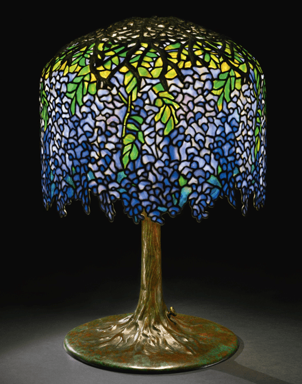 Tifanny's Wisteria Table Lamp