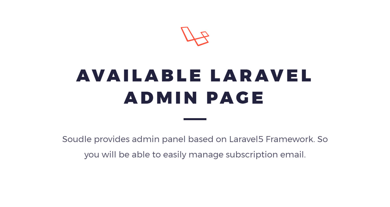 Soudle.js - jQuery Plugin for Subscription Form + Laravel & CodeIgniter Admin Panel - 4