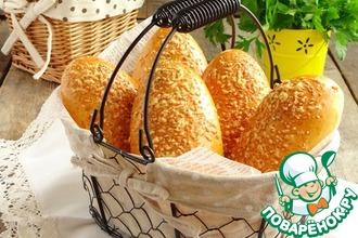 Рецепт: Пирожки для пикника с сосиской
