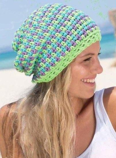 Узоры крючком для шапочек летних
