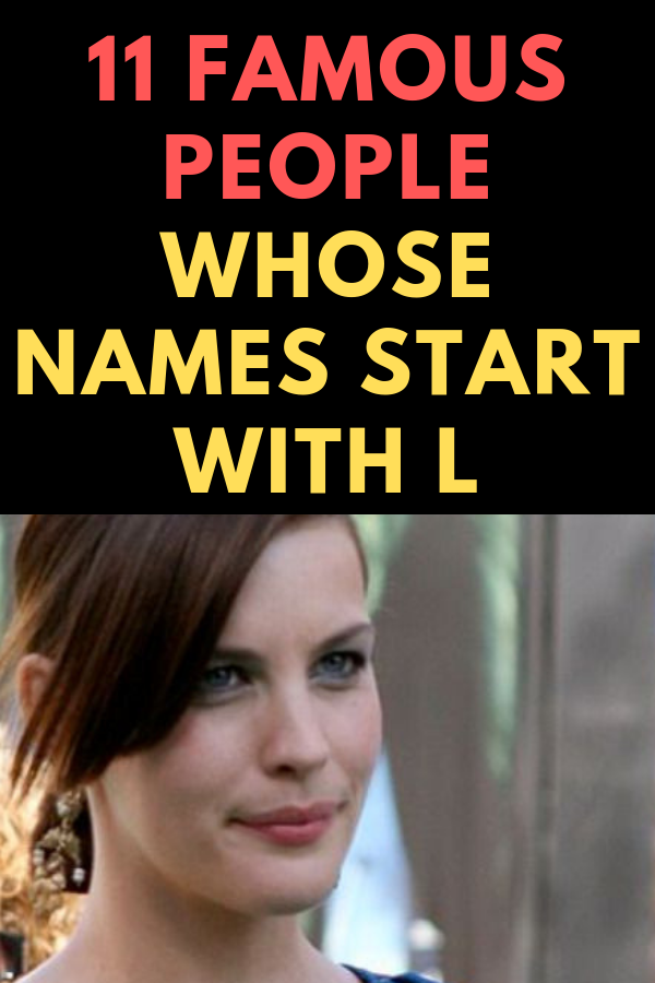 Celebrities names beginning with a