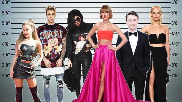 Height of celebrities list