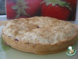 Пирог с красной смородиной постный