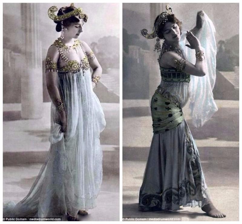 Соблазнительные танцы Маты Хари: редкие снимки начала 20 века