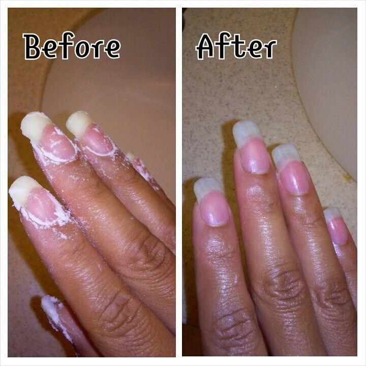 Bleach fingernails
