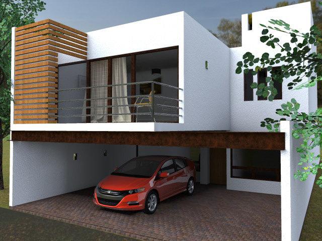 Dise o de casas modernas fachadas y planos en monterrey for Recamaras estilo contemporaneo