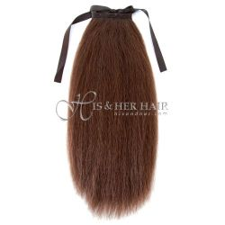 Ponytail Human Hair-Kinky Straight 14