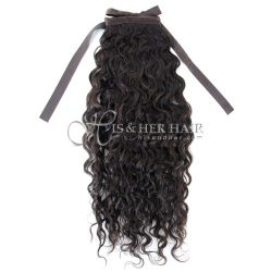 Ponytail Human Hair-Water Wave 16