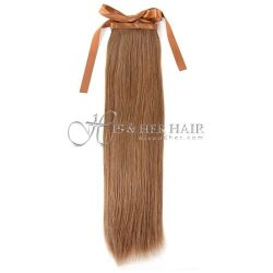Human Hair Ponytail Silky Straight 14