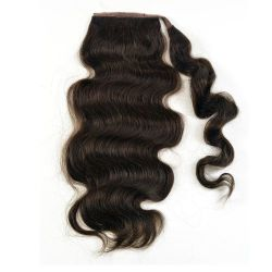 Human Hair Wrap Around Ponytail - Bodywave 18