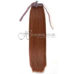 Ponytail Human Hair - Silky Straight 18