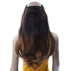 French Bodywave Clip on Set, Color #T2/6, Dark Brown/Light B...