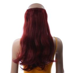 French Bodywave Clip on Set, Color #35, Deep Dark Auburn.  1...