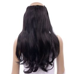 French Bodywave Clip on Set, Color #1, black.  100% Human Ha...