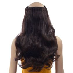 French Bodywave Clip on Set, Color #2, Dark Brown.  100% Hum...