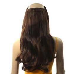 French Bodywave Clip on Set, Color #3, Dark Medium Brown.  1...