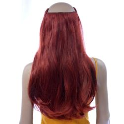 French Bodywave Clip on Set, Color #32, Red Wine.  100% Huma...