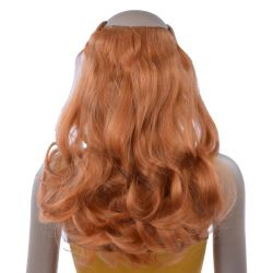 French Bodywave Clip on Set, Color #28, Orange Red Blonde.  ...