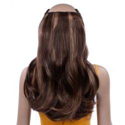 French Bodywave Clip on Set, Color #B2/4/12, Dark Brown / Med Brown / Golden Light Brown.  100% Human Hair, ITALIAN MINK®