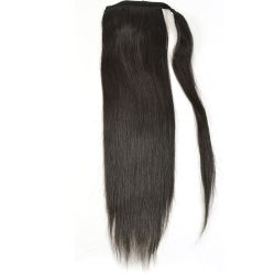 Human Hair Velcro Ponytail - Silky Straight-Thick 18