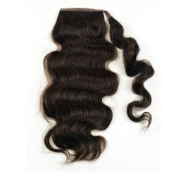 Human Hair Velcro Ponytail - Bodywave-Thick-18