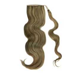 Human Hair Velcro Ponytail - Bodywave 18