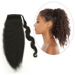 Human Hair Velcro Ponytail - European Wave 16